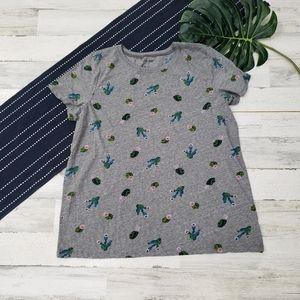 Torrid| Cactus Print Short Sleeve Crewneck Top 2X